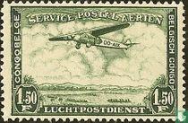 Luchtpost -Landschap met vliegtuig