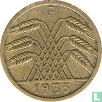 Duitse Rijk 5 reichspfennig 1935 (F)