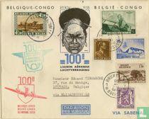Postcard - 100th Air Connection Belgium Congo