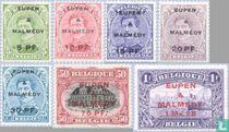 Briefmarken von 1915-1919, mit Aufdruck