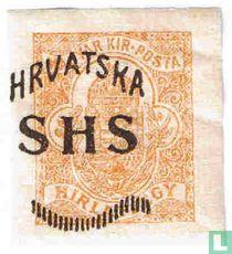 Opdruk op Hongaarse krantenzegel