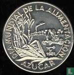 "Cuba 1 peso 1981 ""FAO - World Food day -  Sugar production"""