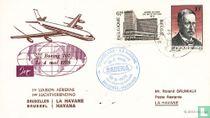 Erste Flugverbindung Sabena Brüssel - Havanna