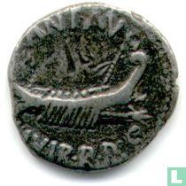 Romeinse Republiek Denarius van Imperator Marcus Antonius 32-31 v. Chr