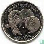 """Canada 25 cents 1999 """"January"""""""