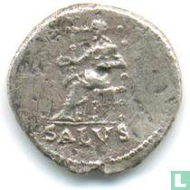 Romeinse Keizerrijk Denarius van Keizer Nero 66-67 n.Chr.