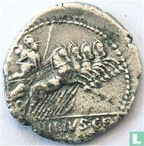 Romeinse Republiek Denarius van Caius Vibius C.F. Pansa 90 v.Chr.