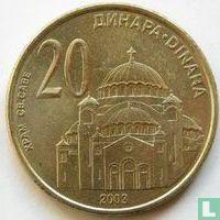 Servië 20 dinara 2003