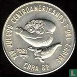 "Cuba 1 peso 1981 ""XIV Central American and Caribbean Games - Mascotte"""