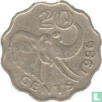 Swaziland 20 cents 1986
