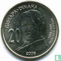 "Servië 20 dinara 2006 ""150th anniversary Birth of Nikola Tesla"""