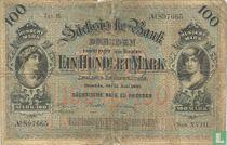 Dresden, Saxon Bank 100 Mark 1890