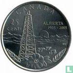 "Canada 25 cents 2005 ""100th anniversary of Alberta"""