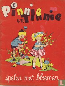 Pinnie en Tinnie spelen met bloemen