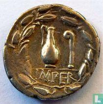 Romeinse Republiek Denarius van Quintus Caecilius Metellus Pius 81 v. Chr.