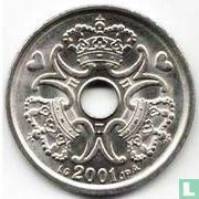 Denemarken 2 kroner 2001