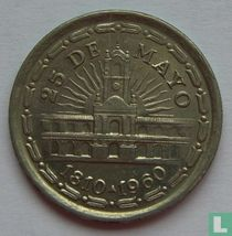 """Argentinië 1 peso 1960 """"150th Anniversary of Deposition of the Spanish Viceroy"""""""