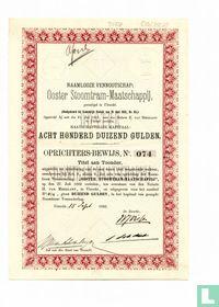 Ooster Stoomtram-Maatschappij, Oprichtersbewijs, 1.000 Gulden, 1882