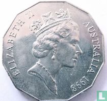 """Australia 50 cents 1998 """"Bicentenary Discovery of Bass Strait"""""""