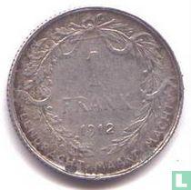 België 1 franc 1912 (NLD)