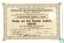 Teriote Mijn-maatschappij, Bewijs van een gewoon aandeel, 1889