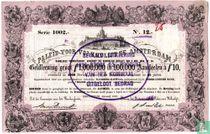 Paleis voor Volksvlijt, Amsterdam, Aandeel f 10,- in geldleening,1867