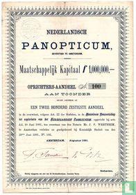 Nederlandsch Panopticum, Oprichters-aandeel, 1881
