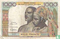 West Afr. Stat. 1000 Francs