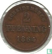 Beieren 2 pfenning 1864