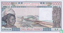 West Afr. Stat. 5000 Francs A