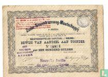Zuider-Stoomtramweg-Maatschappij, Bewijs van Aandeel f 100,=, 1881