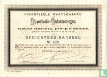 Finantieele Maatschappij voor Nijverheids-Ondernemingen, Oprichters-Aandeel, 1883