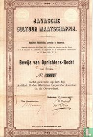 Javasche Cultuur Maatschappij, Bewijs van Oprichters-recht, 1890