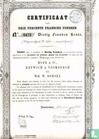 Grootboek der Publieke Schuld van Frankrijk, Certificaat 3% Fransche fondsen, 1888