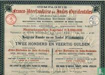 Compagnie Franco-Neerlandaise des Indes Occidentales, Bewijs aan toonder van een aandeel 240 Gulden, 1890