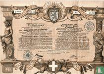 """Noord-Hollandsche Vereeniging """"Het Witte Kruis"""", Premieleening, Tien Gulden, 1888"""