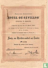 Hotel du Pavillon, Oprichtersaandeel, 1892