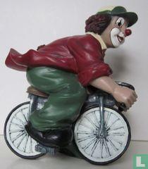Fiets met clown erop