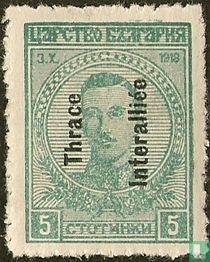 Timbres bulgares avec impression. Boris III