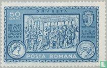 Trajanus bij de gereedkoming van de Donaubrug