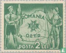 Pfadfinder und Landkarte Rumäniens