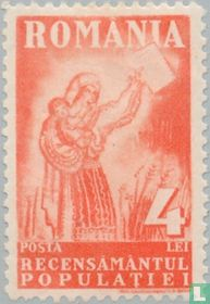 Moeder met kaart voor de volkstelling