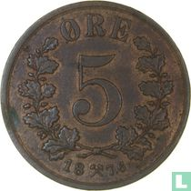 Norwegen 5 Øre 1878