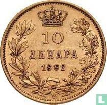 Servië 10 dinara 1882