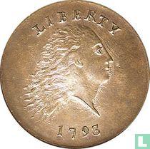 Verenigde Staten 1 cent 1793 (flowing hair, chain reverse)
