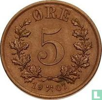 Norwegen 5 Öre 1907