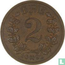 Norwegen 2 Øre 1891