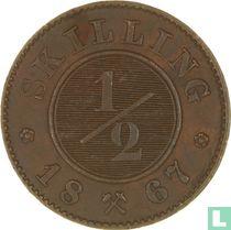 Norwegen ½ Skilling 1867