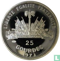 """Haïti 25 gourdes 1973 (PROOF) """"1974 Football World Cup in Germany"""""""