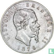 Italië 5 lire 1876